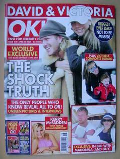 <!--2004-04-20-->OK! magazine - David and Victoria Beckham cover (20 April