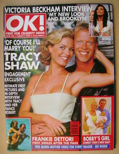 <!--2000-08-04-->OK! magazine - Tracy Shaw and Robert Ashworth cover (4 Aug