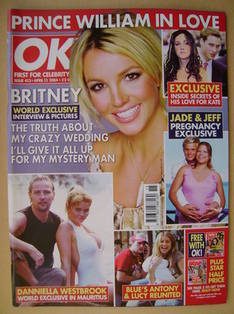 <!--2004-04-13-->OK! magazine - Britney Spears cover (13 April 2004 - Issue