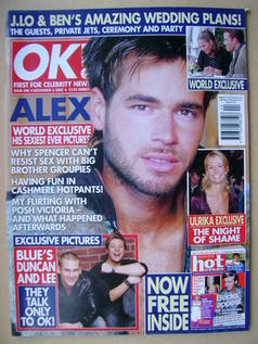 <!--2002-11-06-->OK! magazine - Alex Sibley cover (6 November 2002 - Issue
