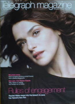 <!--2007-01-13-->Telegraph magazine - Rachel Weisz cover (13 January 2007)