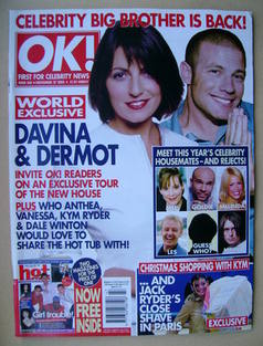 <!--2002-11-27-->OK! magazine - Davina McCall and Dermot O'Leary cover (27