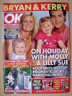 <!--2004-03-16-->OK! magazine - Kerry and Bryan McFadden cover (16 March 20
