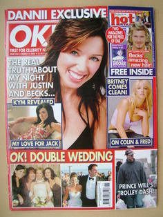 <!--2003-03-18-->OK! magazine - Dannii Minogue cover (18 March 2003 - Issue