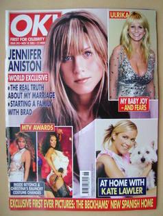 <!--2003-11-18-->OK! magazine - Jennifer Aniston cover (18 November 2003 -