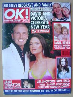 <!--2001-01-12-->OK! magazine - David and Victoria Beckham cover (12 Januar
