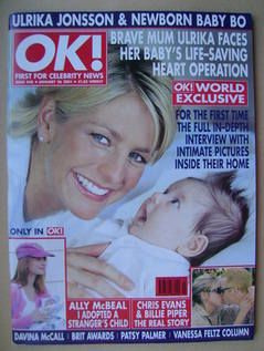 <!--2001-01-26-->OK! magazine - Ulrika Jonsson and Baby Bo cover (26 Januar
