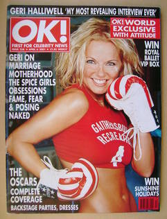 <!--2001-04-06-->OK! magazine - Geri Halliwell cover (6 April 2001 - Issue
