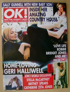 <!--2001-04-13-->OK! magazine - Geri Halliwell cover (13 April 2001 - Issue