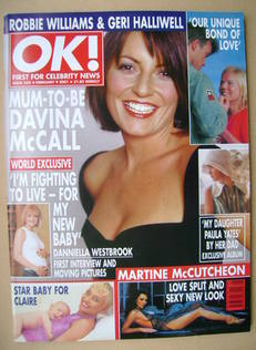 <!--2001-02-09-->OK! magazine - Davina McCall cover (9 February 2001 - Issu