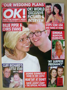 <!--2001-04-27-->OK! magazine - Billie Piper and Chris Evans cover (27 Apri