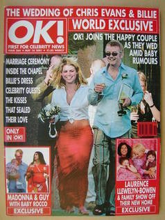 <!--2001-05-18-->OK! magazine - Chris Evans and Billie Piper cover (18 May