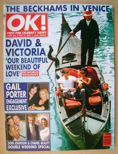 <!--2001-05-11-->OK! magazine - David and Victoria Beckham cover (11 May 20