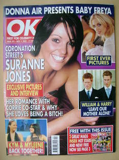 <!--2003-11-04-->OK! magazine - Suranne Jones cover (4 November 2003 - Issu