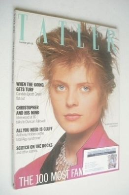 <!--1984-07-->Tatler magazine - July/August 1984 - Allegra Mostyn-Owen cove