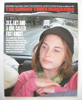 <!--2008-01-13-->The Sunday Times magazine - Amanda Knox cover (13 January