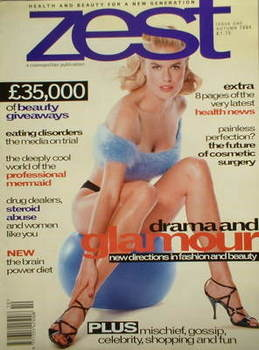 Zest magazine - Vendela cover (Autumn 1994 - Issue 1)