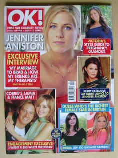 <!--2005-02-01-->OK! magazine - Jennifer Aniston cover (1 February 2005 - I