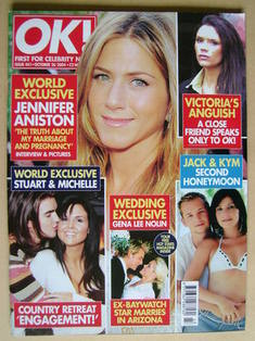 <!--2004-10-26-->OK! magazine - Jennifer Aniston cover (26 October 2004 - I