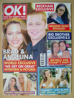 <!--2005-06-07-->OK! magazine - Angelina Jolie and Brad Pitt cover (7 June