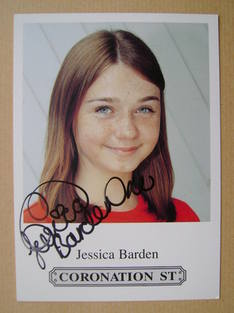Jessica Barden autograph (hand-signed cast card)