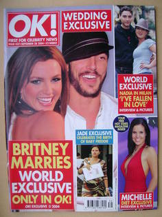 <!--2004-09-28-->OK! magazine - Britney Spears and Kevin Federline cover (2