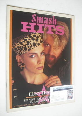 <!--1984-01-05-->Smash Hits magazine - Eurythmics cover (5-18 January 1984)