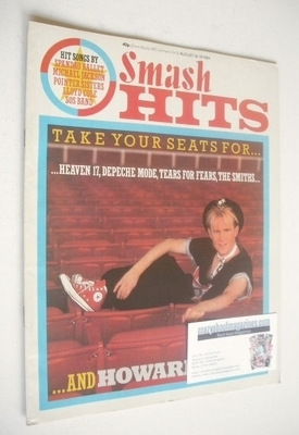 <!--1984-08-16-->Smash Hits magazine - Howard Jones cover (16-29 August 198
