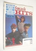 <!--1983-04-14-->Smash Hits magazine - The Thompson Twins cover (14-27 April 1983)