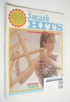 <!--1983-07-21-->Smash Hits magazine - Tracie Young cover (21 July - 3 Augu