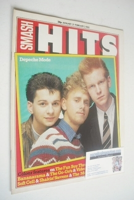 <!--1982-01-21-->Smash Hits magazine - Depeche Mode cover (21 January - 3 F