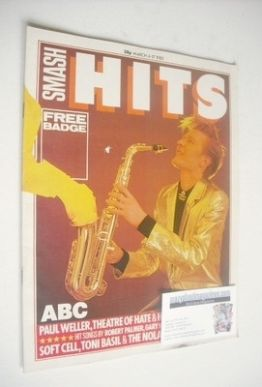 <!--1982-03-04-->Smash Hits magazine - Martin Fry cover (4-17 March 1982)