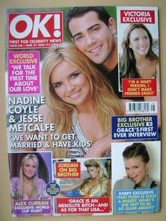 <!--2006-06-27-->OK! magazine - Nadine Coyle and Jesse Metcalfe cover (27 J