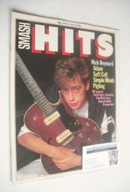 <!--1982-04-29-->Smash Hits magazine - Nick Heyward cover (29 April - 12 Ma