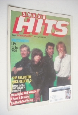 <!--1980-01-10-->Smash Hits magazine - The Pretenders cover (10-23 January