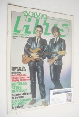 <!--1980-02-21-->Smash Hits magazine - The Buggles cover (21 February - 5 M