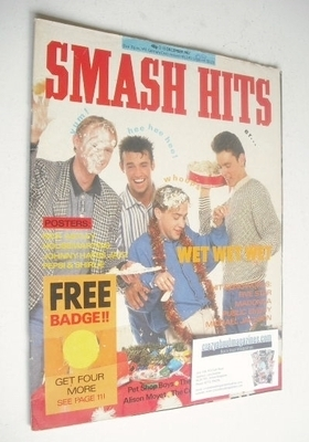 <!--1987-12-02-->Smash Hits magazine - Wet Wet Wet cover (2-15 December 198