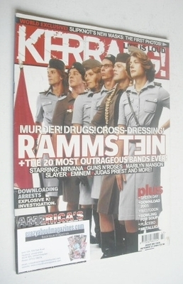 <!--2004-10-23-->Kerrang magazine - Rammstein cover (23 October 2004 - Issu