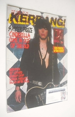 <!--1988-07-16-->Kerrang magazine - Cinderella cover (16 July 1988 - Issue