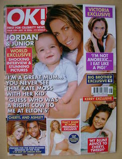 <!--2006-07-18-->OK! magazine - Jordan and Junior cover (18 July 2006 - Iss