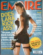 <!--2001-08-->Empire magazine - Angelina Jolie Lara Croft cover (August 200