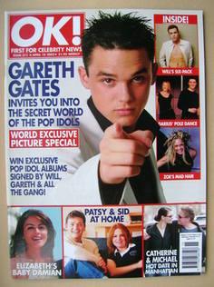 <!--2002-04-18-->OK! magazine - Gareth Gates cover (18 April 2002 - Issue 3