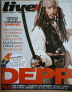 Live magazine - Johnny Depp cover (20 May 2007)