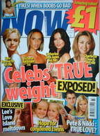 <!--2006-08-23-->Now magazine - Celebs' True Weight cover (23 August 2006)