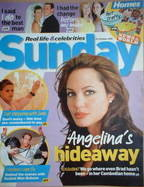 <!--2005-10-23-->Sunday magazine - 23 October 2005 - Angelina Jolie cover