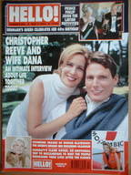 <!--2000-05-02-->Hello! magazine - Christopher Reeve and wife Dana cover (2 May 2000 - Issue 609)