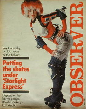 <!--1984-03-11-->The Observer magazine - Starlight Express cover (11 March