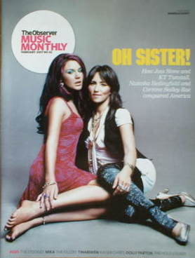 The Observer Music Monthly magazine - February 2007 - Joss Stone and KT Tun