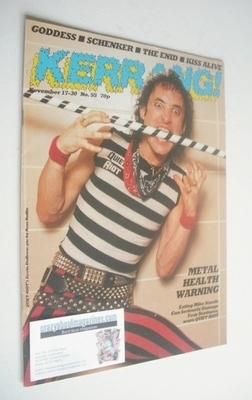 <!--1983-11-17-->Kerrang magazine - Kevin DuBrow cover (17-30 November 1983