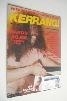 Kerrang magazine - Baron Rojo cover (21 October - 3 November 1982 - Issue 27)